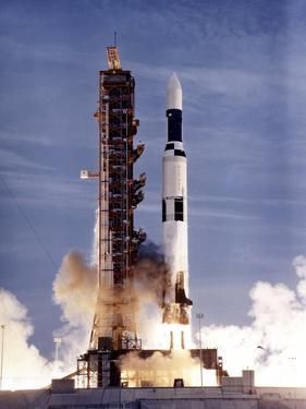 Launch of Skylab on a Two-Stage Saturn V Missile