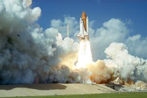 Launch of Space Shuttle Challenger from Kennedy Space Center, Florida, USA, 1985