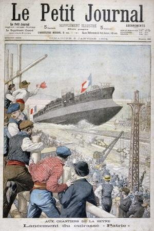 Launch of the French Battleship 'Patrie, Toulon, December 1903