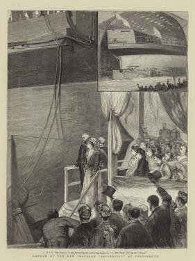 Launch of the New Ironclad Inflexible at Portsmouth