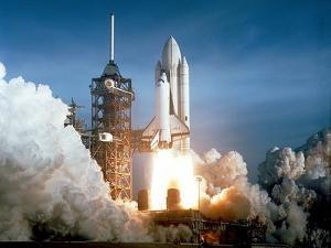 Launch of the Space Shuttle Challenger from Kennedy Space Center,1984