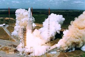 Launching of Of the Second Ariane-5, Kourou, French Guiana on 30 October 1997