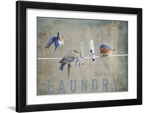 Laundry Day Bluebirds