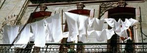 Laundry on Balcony, Havana, Cuba