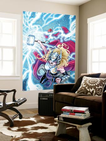 Mighty Thor No. 5 Cover Featuring Thor (Female) by Laura Braga
