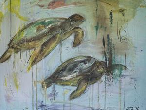 Two Turtles by Laura D Zajac