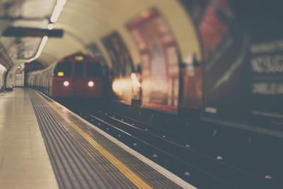 A London Underground Train by Laura Evans