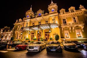 Casino at Night, Monaco, Europe by Laura Grier