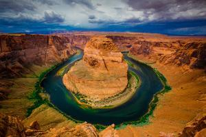 Horseshoe Bend on the Colorado River, Page, Arizona, United States of America, North America by Laura Grier