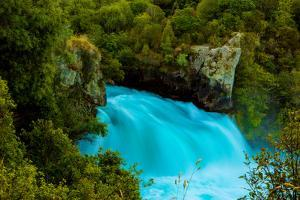 Huka Falls, Lake Taupo, North Island, New Zealand, Pacific by Laura Grier
