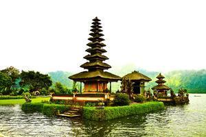 Pura Ulun Danu Temple, Lake Bratan, Bali, Indonesia, Southeast Asia, Asia by Laura Grier