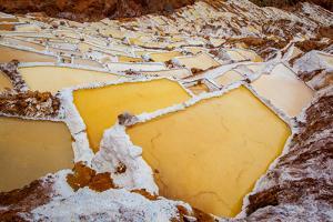Salineras De Maras, Maras Salt Flats, Sacred Valley, Peru, South America by Laura Grier