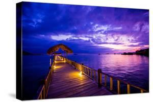 Sunset over the Pier, Hotel Seraya, Flores Island, Indonesia, Southeast Asia, Asia by Laura Grier