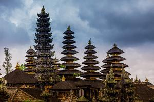 The Besakih Temple, the largest and holiest temple of Hindu religion in Bali, Indonesia by Laura Grier
