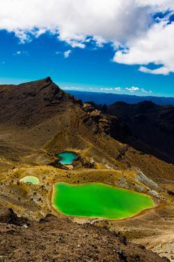 The Emerald Lakes, Tongariro National Park, UNESCO World Heritage Site, North Island, New Zealand by Laura Grier