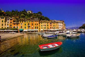 The Italian Fishing Village of Portofino, Liguria, Italy, Europe by Laura Grier