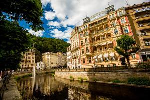 The Village of Karlovy Vary, Bohemia, Czech Republic, Europe by Laura Grier