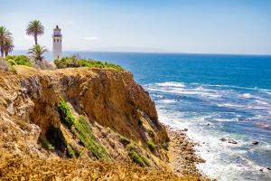 View of Point Vicente Lighthouse, Rancho Palos Verdes, California, USA by Laura Grier