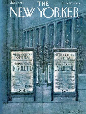 The New Yorker Cover - January 27, 1973