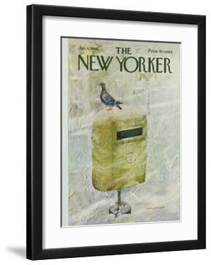 The New Yorker Cover - January 8, 1966 by Laura Jean Allen