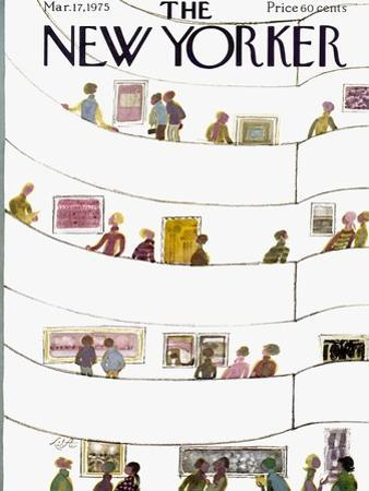The New Yorker Cover - March 17, 1975 by Laura Jean Allen