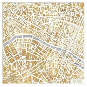Gilded Paris Map by Laura Marshall