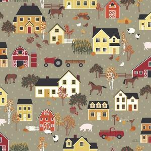 Harvest Village Pattern I by Laura Marshall