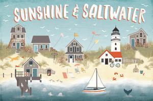 Seaside Village I by Laura Marshall