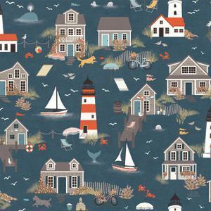 Seaside Village Pattern I by Laura Marshall