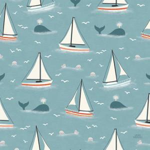 Seaside Village Pattern III by Laura Marshall