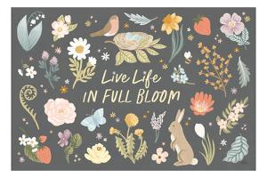 Spring Garden I Dark by Laura Marshall