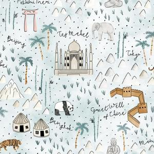 World Traveler Pattern IX by Laura Marshall