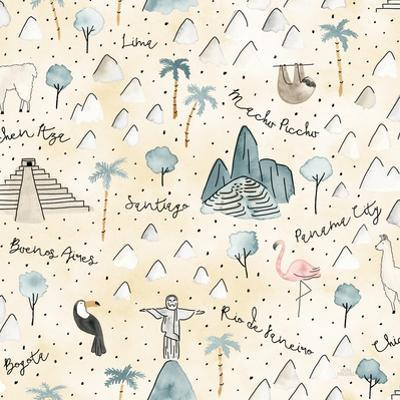 World Traveler Pattern V by Laura Marshall