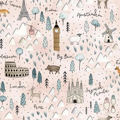 World Traveler Pattern VII by Laura Marshall