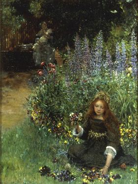 Gathering Pansies, 1902-03 by Laura Teresa Alma-Tadema