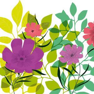 Flower Applique I by Laure Girardin-Vissian