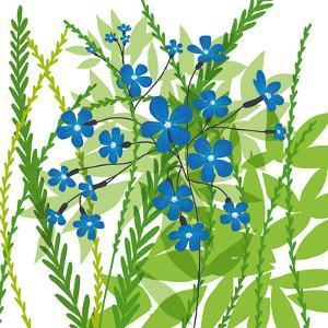 Flower Applique III by Laure Girardin-Vissian