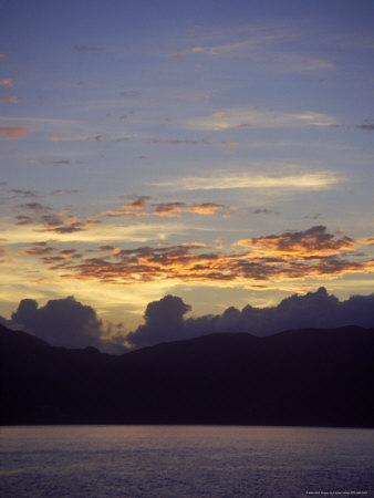 Seascape at Sunset, Antigua, West Indies