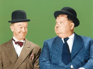 Laurel and Hardy (From Left: Stan Laurel, Oliver Hardy), CA Early 1940s