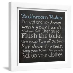 Bathroom Rules by Lauren Gibbons