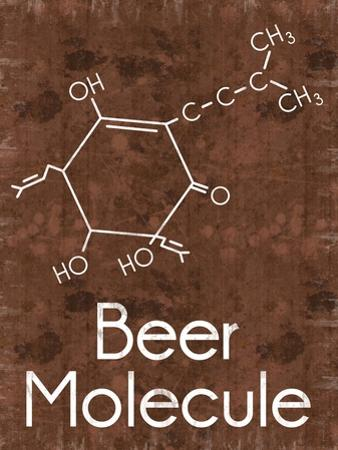 Beer Molecule 2 Rect Brown by Lauren Gibbons