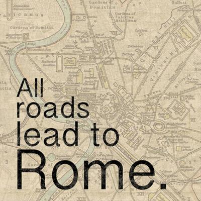 Map Rome by Lauren Gibbons