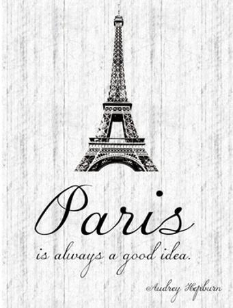 Paris Quote 2 by Lauren Gibbons