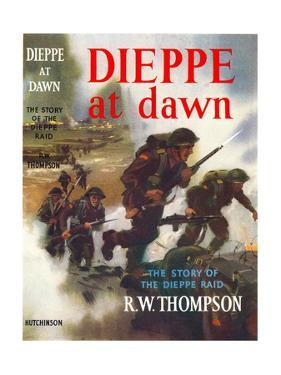 Book Cover for 'Dieppe at Dawn - the story of the Dieppe raid', 1956 by Laurence Fish