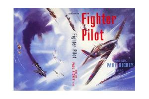 Book Cover for 'Fighter Pilot', 1955 by Laurence Fish