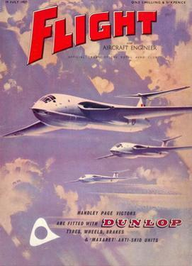 Flight' magazine cover - Handley Page Victors, 1957 by Laurence Fish