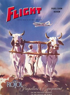 Flight' magazine cover - Viscount Aircraft of the Indian Air Force, 1950s by Laurence Fish