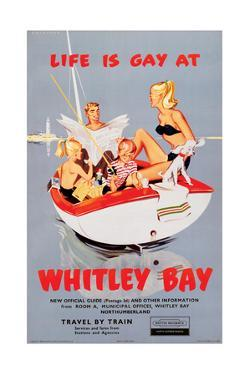 Life is Gay at Whitley Bay' - British Railways Poster by Laurence Fish