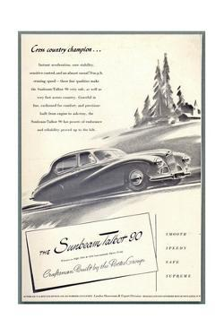 Press Advertisement for the Sunbeam Talbot, 1950s by Laurence Fish