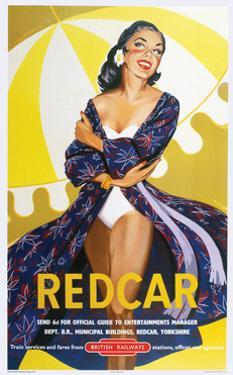 Redcar' - British Railways Poster by Laurence Fish